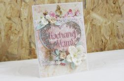 Kochanej Mamie - kartka shabby