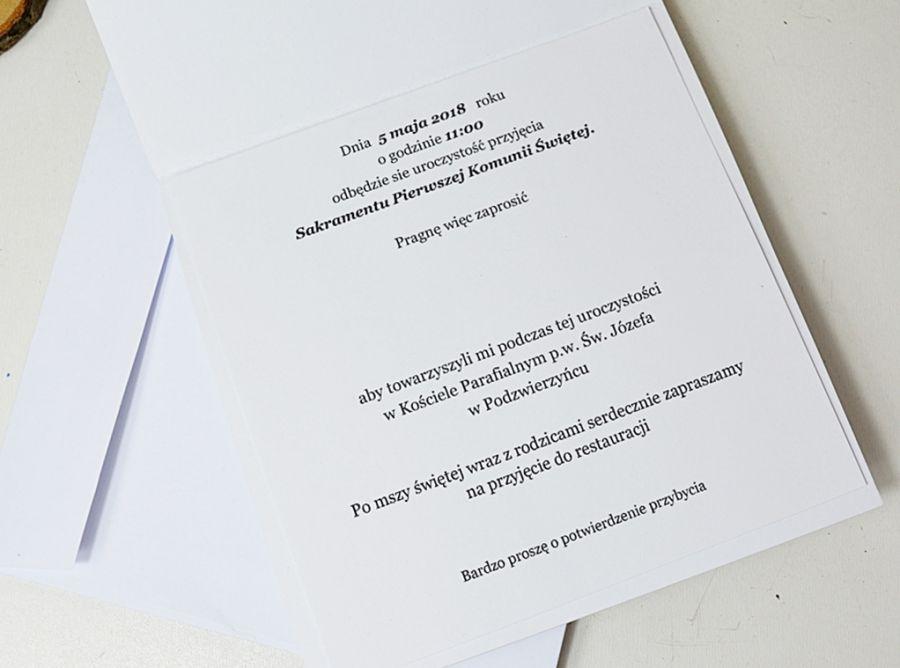 Zaproszenie z grafiką kielich - basic -