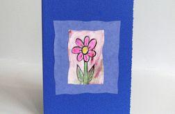 Kartka granatowa z kwiatkiem 5