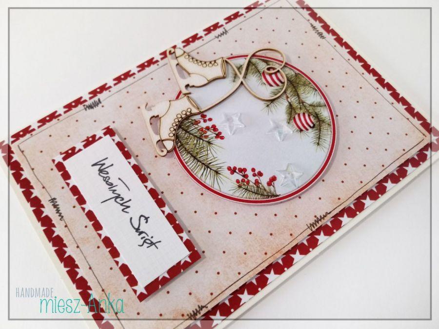 Wyjątkowa KARTKA ŚWIĄTECZNA - 71 - Boże Narodzenie, bożonarodzeniowe, święta