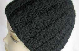 Czapka - czarne warkocze