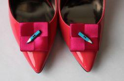 Klipsy - spinki do butów  Kredki różowo-niebieskie