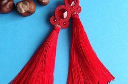 Bardzo Długie Czerwone z Chwostem kolczyki