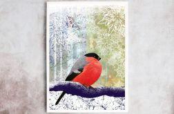 Ptak, plakat sygnowany, B2 70x50 cm