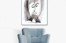 Obraz na płótnie canvas, Pocałunek 1, 60 x 80
