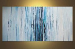 Abstrakcja w kolorach blue -obraz