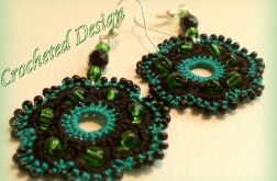 Czarno- zielone kwiatki