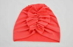 Turban, czapka koralowa