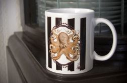 Kubek z krakenem, ośmiornicą, retro, gothic