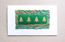 Kartka świąteczna w choinki nr 1
