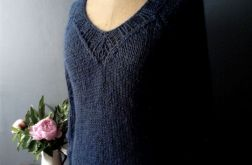 granatowy sweterek z kid mohair