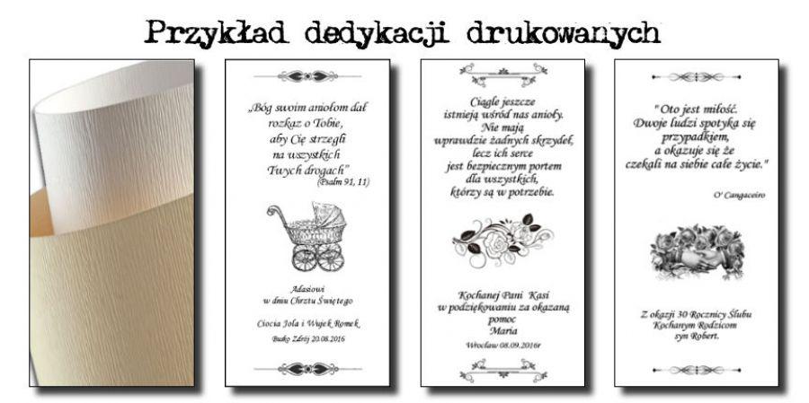 ANIOŁ Światła Rozmowy - Dedykacje drukowane