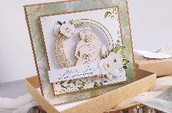Kartka ślubna w pudełku eco rustykalna
