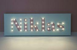Personalizowany obraz LED z imieniem dziecka