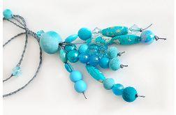 4973 długi naszyjnik niebieski