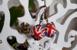 Kolczyki handmade z flagą Wielkiej Brytanii