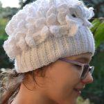 Biała sowa - Hedwiga ! ciepła czapka