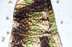 Boho spódnica zielono-brązowa