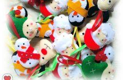 Ozdoby choinkowe świąteczne z filcu