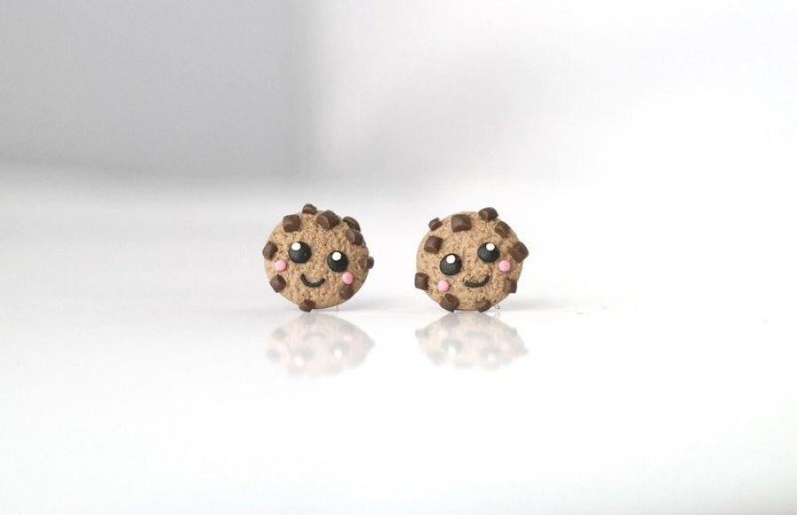 Kolczyki ciasteczka - kolekcja Kawaii
