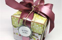 Ślubny box-zieleń,szarość i pudrowy róż