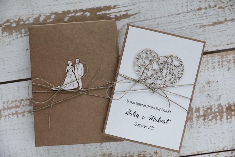 Oryginalna kartka ślubna i pudełko 4r