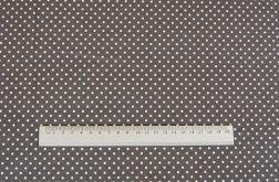 Tkanina szara w kropeczki - Polka Dot
