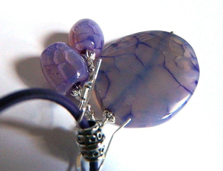 Agat pajęczy, fioletowy zestaw