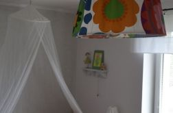 Lampa wisząca z kolorowym abażurem XL