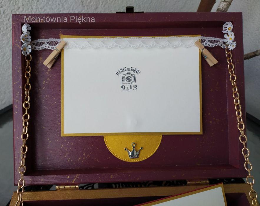 Pudełko skrzynka na zdjęcia drobiazgi v2 - Pudełko na zdjęcia drobiazgi wnętrze 2