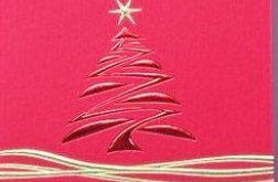Ładna satynowa czerwona kartka z życzeniami
