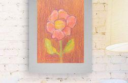 Rysunek kwiat na szarym tle nr 1 szkic
