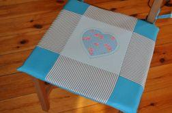Poduszki na krzesła, siedziska - turkusowe -4 szt
