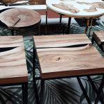 Stolik kawowy orzech włoski, kwadratowy