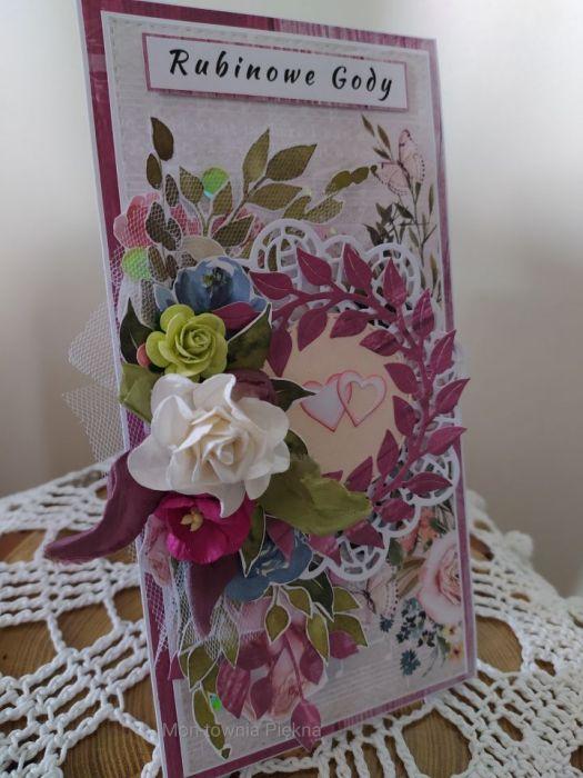 Kartka Rubinowe Gody - kartka rubinowe gody 1