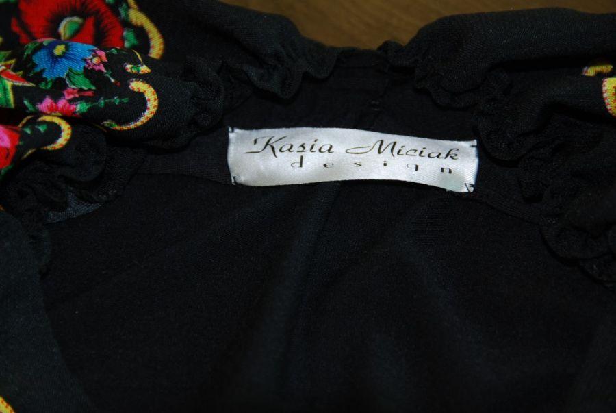 Czarna sukienka w stylu folk-ostatnia rozmiar S