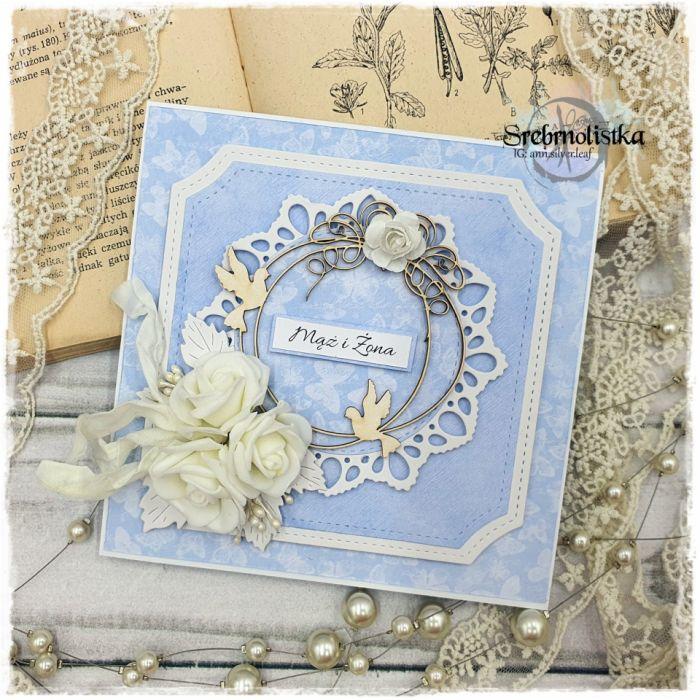 Kartka ślubna z gołąbkami vol.88 - kartka ślubna