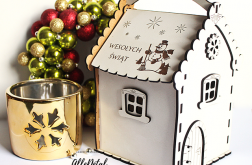Domek na słodycze ŚWIĘTA prezent drewniany