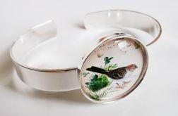 Ptaszek - srebrna bransoleta