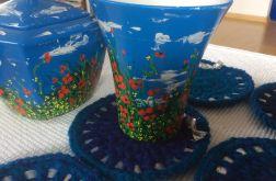 Podkładki pod kubek niebieskie