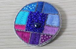 Broszka haft mozaic