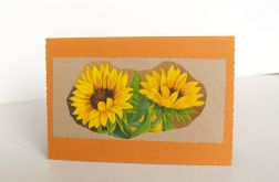 Kartka uniwersalna ze słonecznikami 2