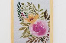 Akwarela, kompozycja kwiaty