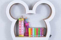 Półka na książki zabawki MYSZKA | biały