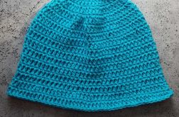 Letni bawełniany kapelusz turkusowu