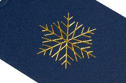 Etykietka do prezentów ze śnieżynką1 - 6 szt