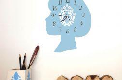 Zegar Ścienny Dziewczynka Buzia Profil