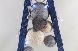 Strzelista Choinka drewniana 20LED Niebieska