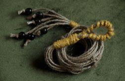 Oryginalny kwietnik makrama juta naturalny vintage boho