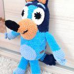 Bluey z bajki Blue maskotka szydełkowa plusz - Bluey z bajki Blue